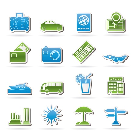 Travel and vacation icons - vector icon set Stock Vector - 13511033