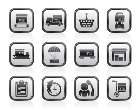 Logistic, cargo and shipping icons - vector icon set Stock Vector - 13604080