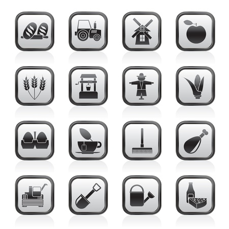 Agriculture and farming icons - vector icon set Vector