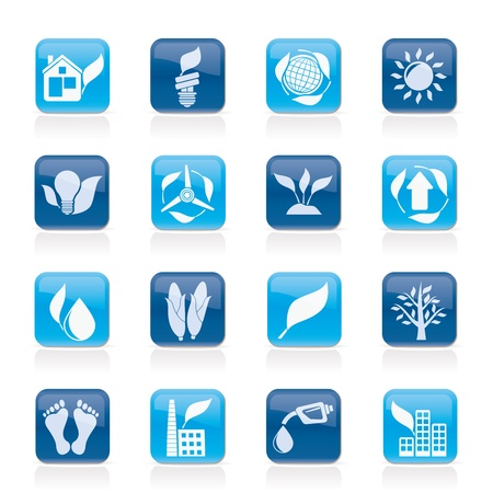environment and nature icons - vector icon set Stock Vector - 13604126