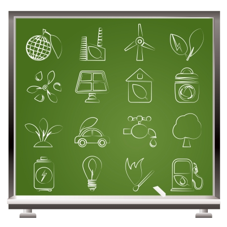 Green, Environment and ecology Icons - vector icon set Vector