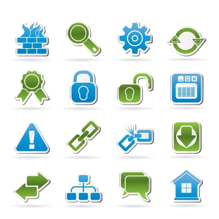 back link: Internet and web site icons - vector icon set