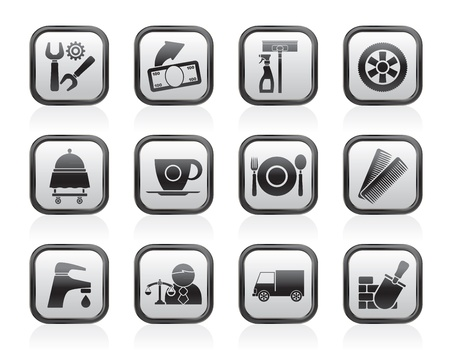 service industry: Services and business icons - vector icon set