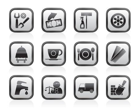 cerchione: Servizi e icone del mondo - set di icone vector