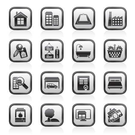 Real Estate objects and Icons - Vector Icon Set Stock Vector - 13709836