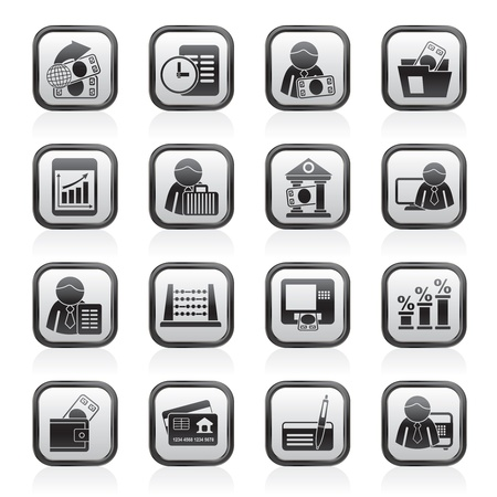 treasurer: Bank and Finance Icons - Vector Icon Set Illustration