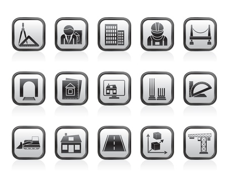 architecture and construction icons - vector icon set Stock Vector - 13709814