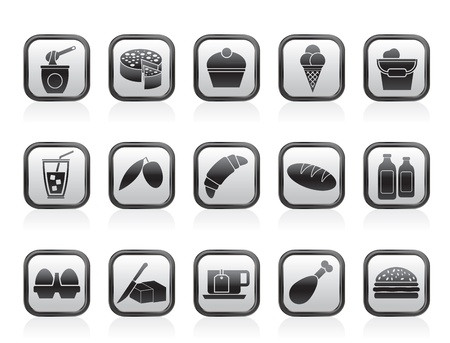 Dairy Products - Food and Drink icons - vector icon set Stock Vector - 13709803