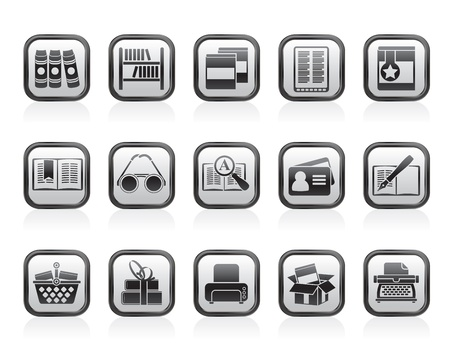 Library and books Icons - vector icon set Stock Vector - 13709822