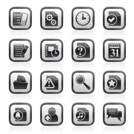 Organizer, communication and connection icons - vector icon set Vector