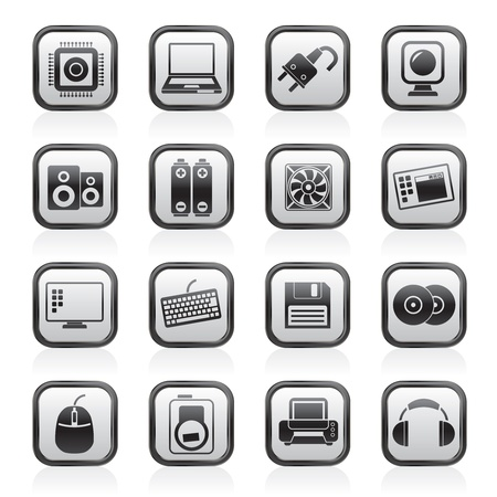 it technology: Computer Items and Accessories icons - vector icon set Illustration