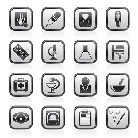 Healthcare and Medicine icons - vector icon set Stock Vector - 13709831