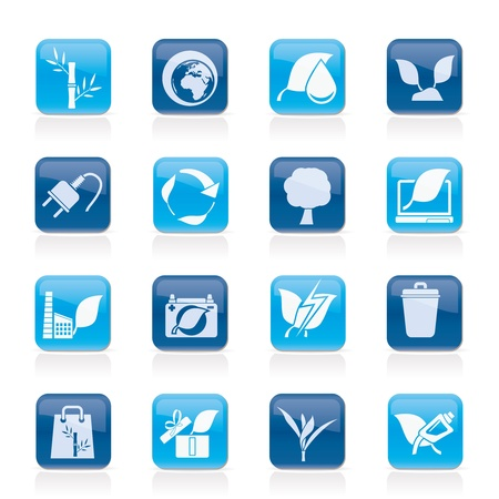 Environment and Conservation icons - vector icon set Stock Vector - 13748882