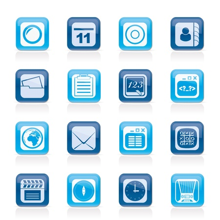 Mobile Phone and communication icons - vector icon set Vector