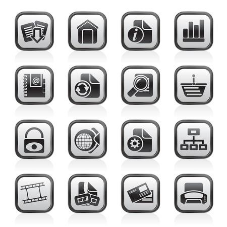 site web: Sito Web e le icone di Internet