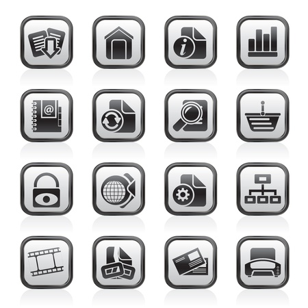 printers: Web Site and Internet icons