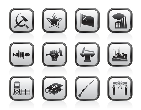 totalitarianism: Communism, socialism and revolution icons