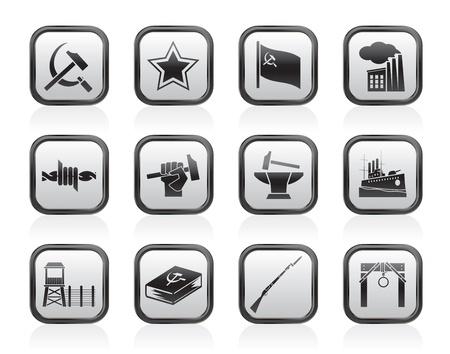 socialism: Communism, socialism and revolution icons