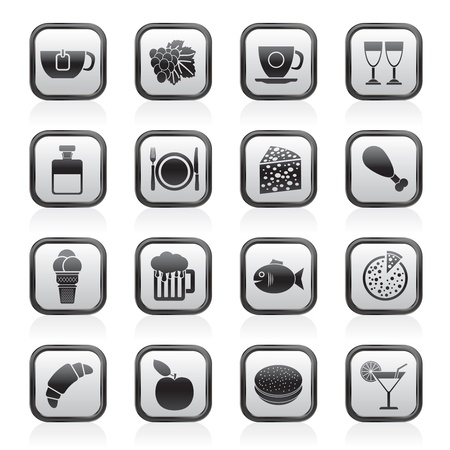 Food, Drink and beverage icons Stock Vector - 13809683