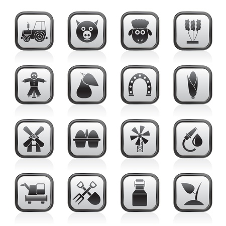Agriculture and farming icons - vector icon set Stock Vector - 13809532
