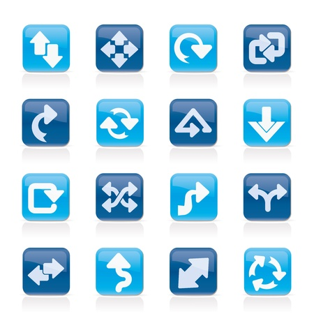 reversing: different kind of arrows icons icon set Illustration