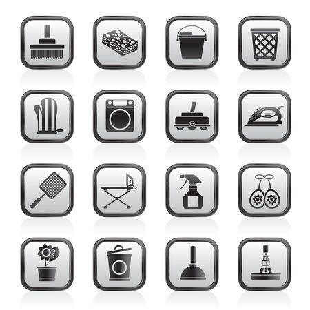 objetos de la casa: Objetos de la casa y los iconos de herramientas-set vector icono Vectores