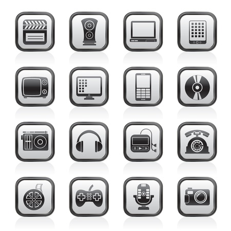multimedia and technology icons - vector icon set Stock Vector - 13910991