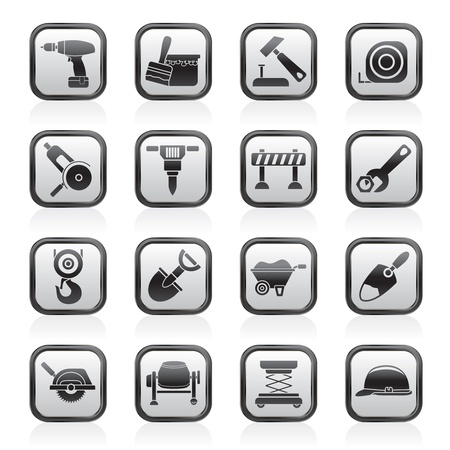building site: building and construction icons - vector icon set Illustration