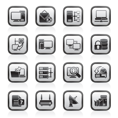webhosting: Computer Network and internet icons - vector icon set