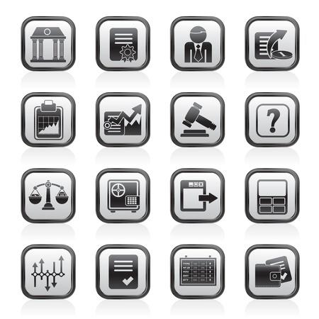 Börse und Finanzen Icons