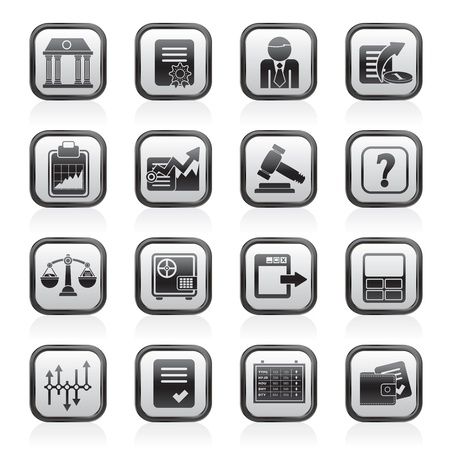 stock broker: Stock exchange and finance icons Illustration