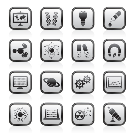 electromagnetism: science, research and education Icons - Vector Icon set