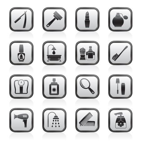body care and cosmetics icons - vector icon set Stock Vector - 13910992