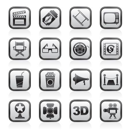 directors: Cinema and Movie icons- vector icon set