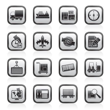 embarque: transporte y log�stica - iconos conjunto de vectores icono de Vectores