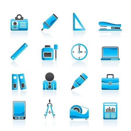 correttore: Business Objects e ufficio icone set