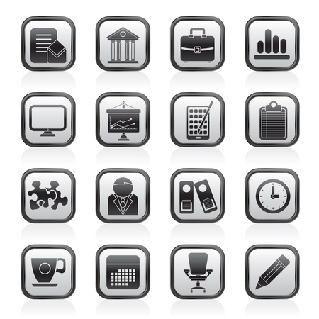 Business and office icons Stock Vector - 13984142