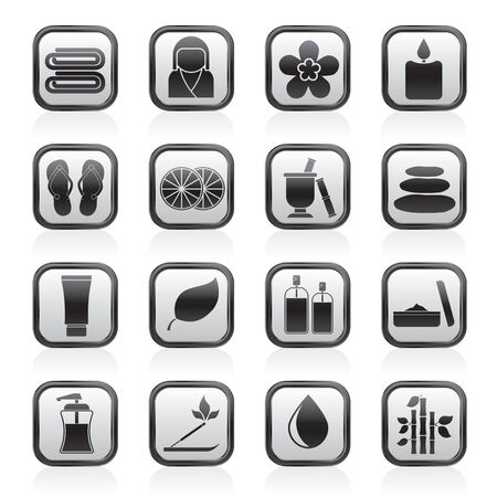 therapeutic: Spa objects icons