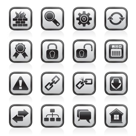 Internet and web site icons Stock Vector - 13983666