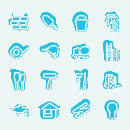 Construction and Building Icon Set. Stock Vector - 13985035