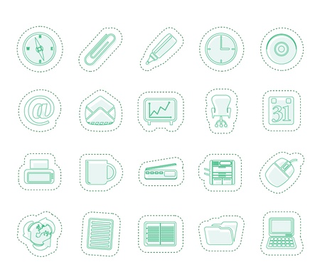 Office tools icons Stock Vector - 13984711