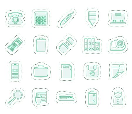 Simple Office tools Icons Vector