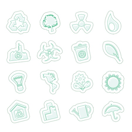 Ecology and Recycling icons Stock Vector - 13985056