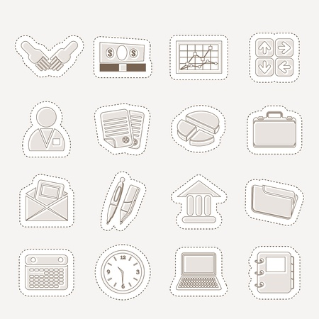 pensil: Simple Business and office icons