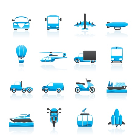 Transportation and travel icons  Stock Vector - 14120760