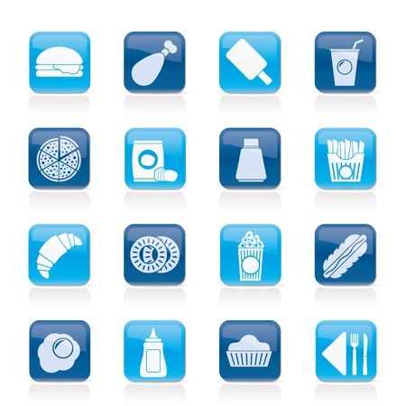 fast food and drink icons  Vector