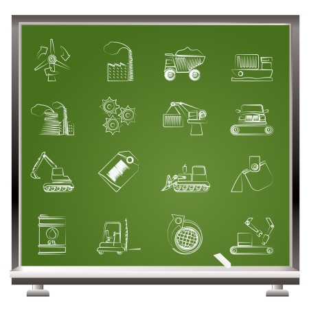 different kind of business and industry icons  Vector