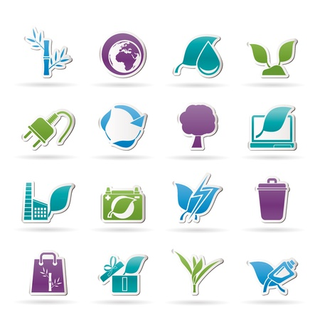 Environment and Conservation icons  Stock Vector - 14120784