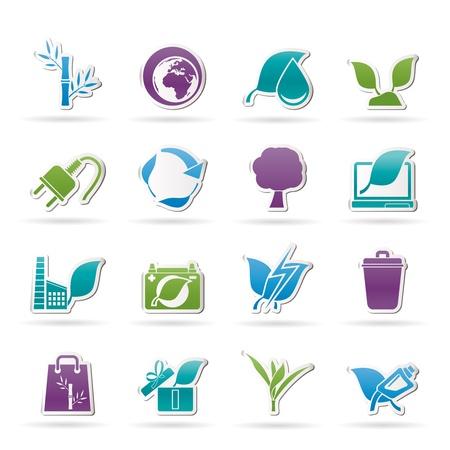 plantes aquatiques: Environnement et conservation des ic�nes Illustration