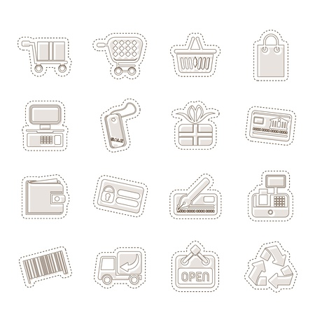 Simple Online Shop icons Stock Vector - 14120892